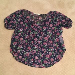 Abercrombie Kids floral sheer blouse